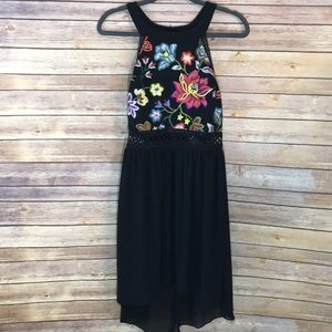 NWT BCX Embroidered high low dress